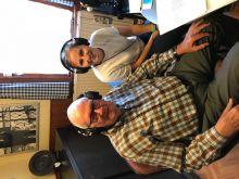 Collega Kathleen bij Radio Minerva voor de griepcampagne